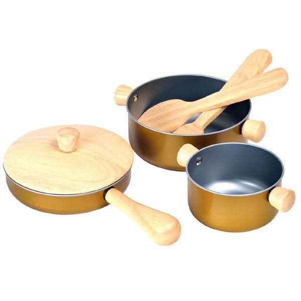 おままごと 調理用具 セット (3413) PLANTOYS プラントイの木のおもちゃ 誕生日 プレゼントに人気 子供向け木製玩具