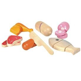 おもちゃ 木製 ままごとセット おままごと ミートセット 女の子 1歳 2歳 誕生日プレゼント 3歳 4歳 5歳 誕生日 プレゼント おもちゃ ままごと道具 木のおもちゃ 木製玩具 幼児 子ども 木製 PLANTOYS (プラントイ) クリスマスプレゼント