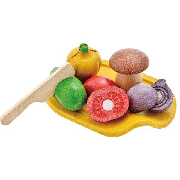 PLANTOYS (プラントイ) おままごと 詰め合わせベジタブルセット ままごと 食材 木製 女の子 男の子 幼児 子供用 ままごとセット 木のおもちゃ 3601