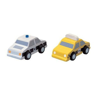 Wooden toys PLANTOYS taxi and police car