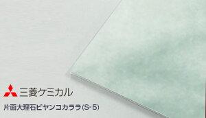 アルポリック fr ニューブライト S-5 片面大理石ビヤンコカララ (不燃材) 厚さ 3mm 1220x2440 32,450円/枚 三菱ケミカル 2枚梱包 アルミ複合板(旧:三菱樹脂)303fr