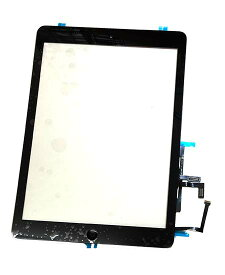 【iPad Air】フロントパネルデジタイザ ブラック【アイパッドエアー修理交換用部品】【タッチパネル+前面ガラス+ホームボタン】