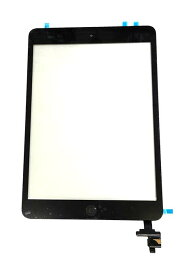 【iPad Mini】フロントパネルデジタイザ ブラック【アイパッドミニ修理交換用部品】【タッチパネル+前面ガラス+ホームボタン】