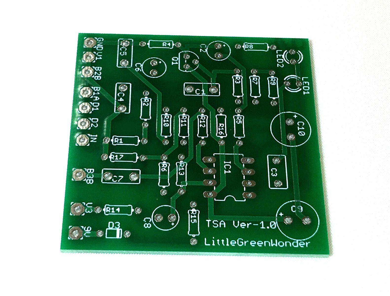 【メール便なら送料無料】Little Green Wonder風 オーバードライブギターエフェクターペダル 自作用基盤