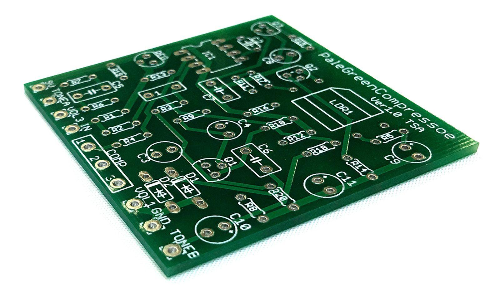【メール便なら送料無料】Pale green Compressor風 コンプレッサーペダル自作用基盤