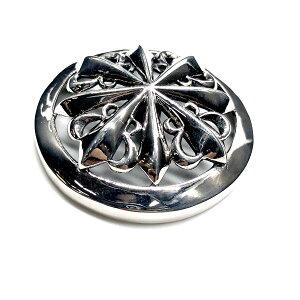 送料無料 ALZUNI アルズニ シルバー コンチョ クロス ユリ 950 メンズ レディース 飾りボタン おしゃれ かわいい オリジナル シルバーアクセサリー カスタマイズ カスタム シルバーコンチョ ギ