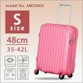 【特別価格】スーツケース機内持ち込み可Sサイズ48cm拡張機能搭載ジッパーケース軽量小型キャリーバッグシフレ1年保証付AMC0003メタリックピンク