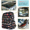 Backpack Japanese pattern style hiking events cycling collapse allowed carry ON with siffler HAPI+TAS sifre hapitas HAP0092