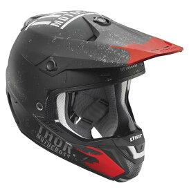SALE Thor ソアー Verge Objectiv Helmet 2017モデル オフロード モトクロス ヘルメット 【黒灰】【AMACLUB】 おすすめ