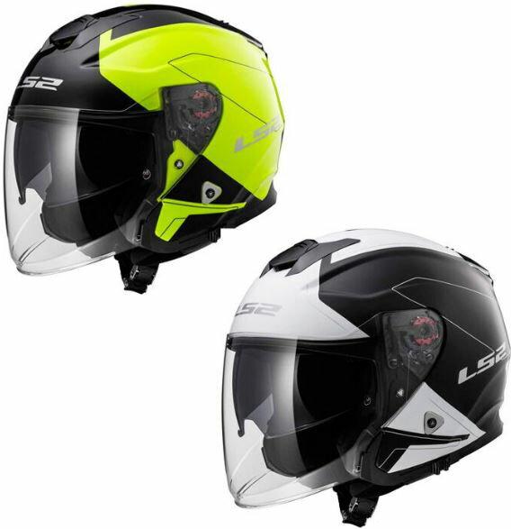【ダブルバイザー】LS2 INFINITY OF521 BEYOND HELMET 2017 ジェットヘルメット オシャレ ダブルシールド オンロード バイク ライダー ツーリングにも インフィニティ ビヨンド 大きいサイズあり 【黒白】【フローイエロー】【AMACLUB】 おすすめ かっこいい 人気