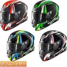 【ダブルバイザー】Shark シャーク Skwal 2 Replica Sykes Helmet 2019モデル レディース フルフェイスヘルメット サンバイザー バイク ツーリング スクォール2 レプリカ サイクス かっこいい おすすめ【4色カラー】【AMACLUB】 街乗り