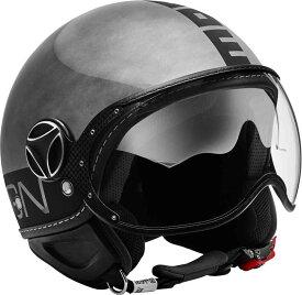 【限定版】【ダブルバイザー】 MOMO FGTR Evo Winter Limited Edition Metal Glossy ファイター ジェットヘルメット オープンフェイス バイク ツーリング サンバイザー かっこいい おしゃれ イタリア 街乗り