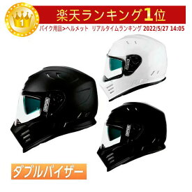 【ダブルバイザー】SIMPSON シンプソン Venom Helmet (2019継続)モデル フルフェイス ヘルメット サンバイザー ツーリング レーシング バイク用 ヴェノム   白 黒 マットブラック【AMACLUB】 おすすめ かっこいい 街乗り