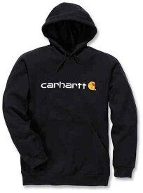 Carhartt カーハート Signature Logo Midweight パーカー フーディー スウェットシャツ カジュアルジャケット ライダー バイク ツーリングにも かっこいい おすすめ (AMACLUB)