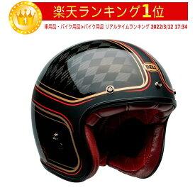 \実質6%引★キャッシュレス5倍/【カーボン】Bell ベル Custom 500 Carbon RSD Checkmate Helmet ジェットヘルメット ライダー バイク ツーリングにも かっこいい おすすめ (AMACLUB)