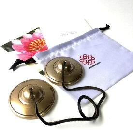 ティンシャ プレミアム・ティンシャ L [アマナマナ公式] ヨガ・癒しのプロ用 浄化 瞑想 集中 チベタン ベル