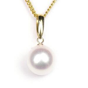 真珠 パール ネックレス あこや 送料無料 あこやパール 8.0〜8.5mm K18 ゴールド ネックレスペンダント