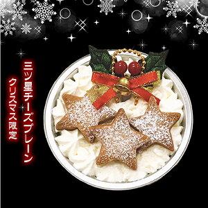 2019クリスマス クリスマス限定バージョン 三ツ星チーズプレーン1CUP チーズケーキ スイーツ 奇跡のくちどけ お取り寄せスイーツ