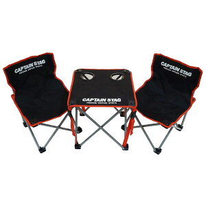 コンパクトテーブル チェア セット UC-1702 チェアリング かわいい おしゃれ キャプテンスタッグ CAPTAIN STAG キャンプ バーベキュー用 机 ジュール アウトドア レジャー いす 椅子 卓上 BBQ ドリ