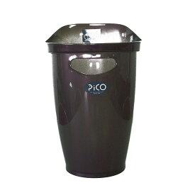 サンコープラスチック ゴミ箱 ピコ パープルメタリック ダストボックス ごみ箱 分類 ポリ袋止め インテリア 部屋 シンプル 使いやすい スタイリッシュ シンプル 家庭用 キッチン リビング 多目的 掃除 片付け 収納