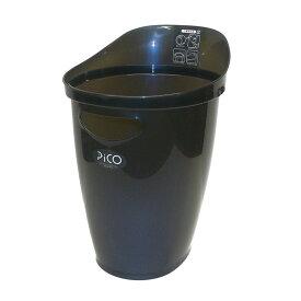 サンコープラスチック ゴミ箱 ピコ ブルーメタリック ダストボックス ごみ箱 分類 ポリ袋止め インテリア 部屋 シンプル 使いやすい スタイリッシュ シンプル 家庭用 キッチン リビング 多目的 掃除 片付け 収納