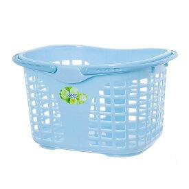 サンコープラスチック ランドリーバスケット ブライトバスケット フラワー No.35 パールブルー 洗濯カゴ 洗濯物 ランドリーバッグ バスケット 多目的 かご 籠 バスルーム 洗面所 お風呂 小物入れ 雑貨 キッチン 洗濯 中身 が 見える