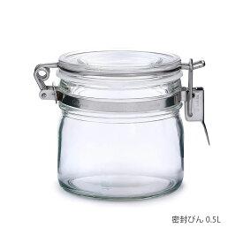 セラーメイト 密封びん 0.5L 日本製 220001 星硝 Seisho ボトル 保存容器 ガラス キャニスター 漬ける 調味料 密閉 保管 ビン 瓶 透明 取っ手 おしゃれ ボトル 台所 中身 見える 冷蔵庫 ふた付 ガラス瓶 ジャム