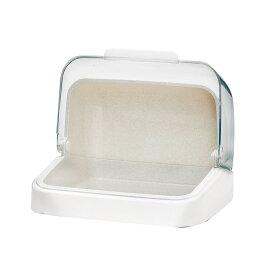 アスベル Nフォルマ フード29 ホワイト ブレッドケース フードケース 哺乳瓶 ケース 収納ケース 透明 調味料入れ 卓上収納 キッチン テーブル 整理 ケース クリア 清潔 調味料 フード付 大きく 開く 保管 保存 台所 便利 クリアケース 食品 ボトル