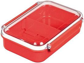 パール金属 弁当箱 D-2320 650 レッド 日本製 ランチ ボックス 燕三条製 レノン 赤 お弁当箱 シンプル 仕切り
