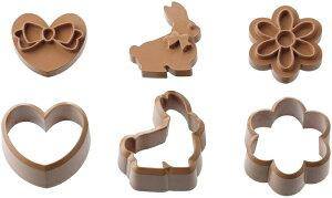 貝印 KAI 抜き型 3個 セット うさぎ ハート 花 貝印×クックパッド DL8072 クッキー抜き型 抜き型 アイシングクッキー デコ ラビット フラワー おしゃれ シャカシャカクッキー