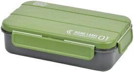 パール金属 弁当箱 1段 4点ロック D-437 メンズ ランチ ボックス カーキグリーン 男性用 日本製 ホームレーベル