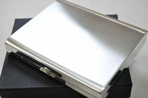 【PEARL】シガレットケース シルバーサテン PALIS 20本 ブランド たばこケース 人気 ロングタバコケース 丈夫 日本製 パリス20 85mm 100mm メンズ レディース