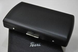 【PEARL】シガレットケース マットブラック VENUS 12本 ブランド たばこケース 人気 キングタバコケース 丈夫 日本製 ヴィーナス 85mm メンズ レディース 小型 黒色
