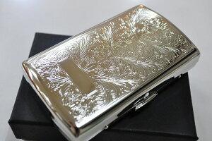 【PEARL】シガレットケース 真鍮 アラベスク柄 ヴィーナス 12本 ブランド たばこケース 人気 煙草ケース 丈夫 プレゼント シルバー 85mm メンズ レディース 小型 銀色 VINUS