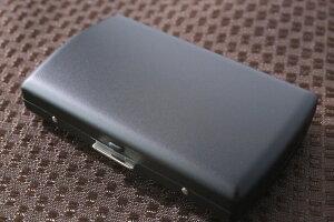 【PEARL】ブランドシガレットケース iQOS (アイコス)ヒートスティック専用 20本 マットブラック 黒 / アイコスケース 人気 たばこケース おしゃれな艶消し黒 レディース メンズ 日本製 IQOS ケ