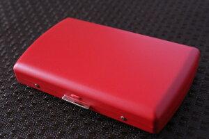 【PEARL】ブランドシガレットケース iQOS (アイコス)ヒートスティック専用 20本 マットレッド 赤 / アイコスケース 人気 たばこケース おしゃれな艶消し赤 レディース メンズ 日本製 IQOS ケー