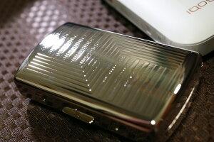【PEARL】ブランドシガレットケース iQOS (アイコス)ヒートスティック専用 20本 シルバーパターン柄 銀色 / アイコスケース 人気 たばこケース おしゃれ レディース メンズ IQOS ケース