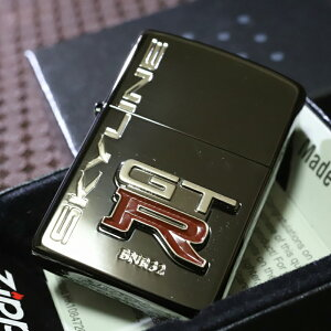 【NISSAN ZIPPO】日産 GTR ブラック 黒 イオンブラック加工 オイルライター 人気 デザインが かっこいい おすすめ スカイラインジッポ クラシック GTRジッポ
