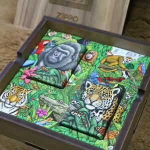 ミステリーフォレスト 25周年記念ZIPPO 世界限定12000個 限定ジッポ レア ZIPPO ペアジッポ おそろい 記念日 FOREST 動物