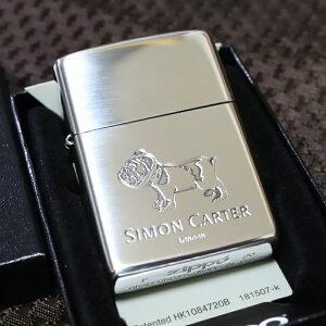 SIMON CARTER ジッポライター ブルドック 銀いぶし仕上げ サイモンカーター オイルライター おしゃれ プレゼント 人気 ブランド ZIPPO zippo クリスマス 鏡面シルバー かわいい