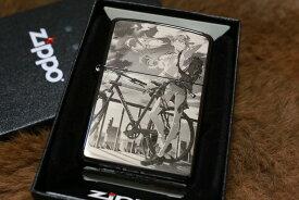 エヴァZIPPO エヴァンゲリオン アスカ 自転車 両面彫刻 ジッポ 限定シリアルナンバー入り 人気 プレゼント エヴァジッポ ジッポエヴァ 送料無料 EVA かっこいい かわいい