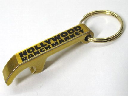 ハリウッドランチマーケット オープナーキーホルダー 金
