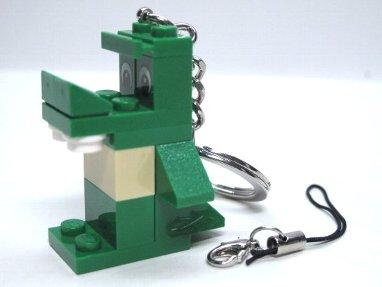 LEGO ブロック恐竜B ストラップキーホルダー