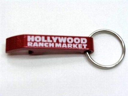 ハリウッドランチマーケット オープナーキーホルダー 赤