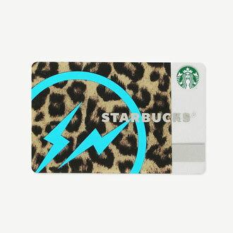 スターバックス × FRAGMENT DESIGN レオパード (青イナズマ) カード