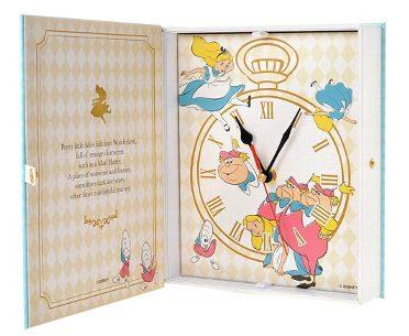 ディズニーストア限定 ブック型時計 ふしぎの国のアリス