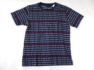 セール ハリウッドランチマーケット ブルーブルー 全面ロゴ Tシャツ S