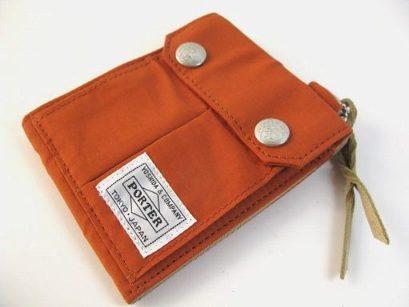 ポーター × エッセンシャル クロス財布S 茶
