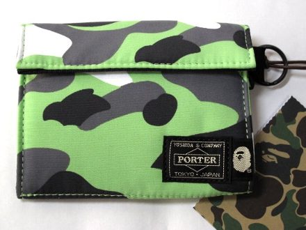 APE × ポーター 迷彩 緑 財布