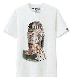 UT UNIQLO Star Wars R2D2 t-shirt graffiti XL